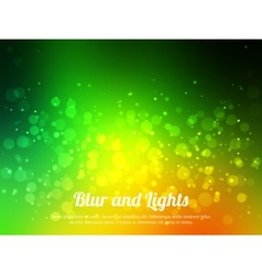 Abstract green colorful bokeh background Festive vector