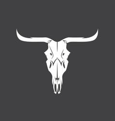 abstract texas cow skull design template vector image