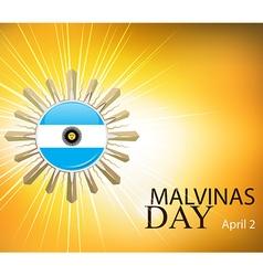 argentina malvinas day vector image