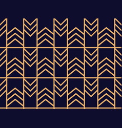Art deco seamless pattern linear geometric art of vector