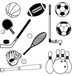 ball and sport icons vector image