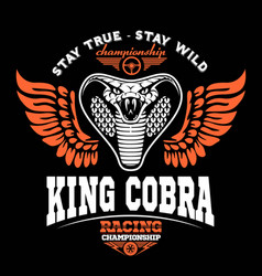 Biker patches king cobra vector