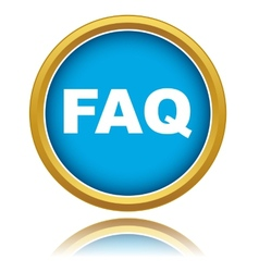 Blue faq icon vector