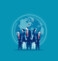 Business globe network concept business vector