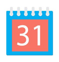 Calendar page icon vector image