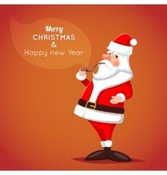 Cartoon Santa Claus Character Icon on Stylish vector image