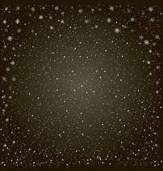 Christmas snowy black background vector