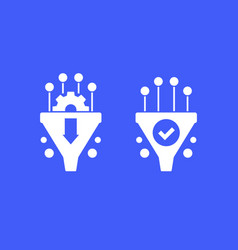 Conversion rate optimization icons vector