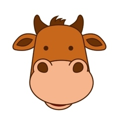 Cow character isolated icon vector