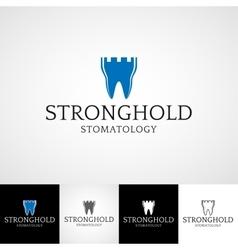 Creative dental logo template orthodontist vector