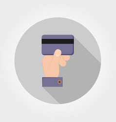 credit card payment icon flat vector image