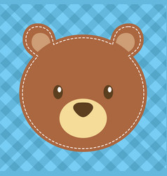 cute head bear teddy bear vector image