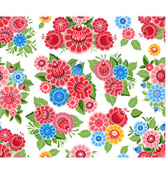 cute seamless texture with stylized flowers vector image vector image