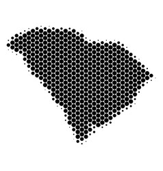 Dot halftone south carolina state map vector