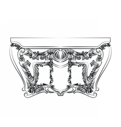 Exquisite Fabulous Imperial Baroque chest table vector image
