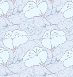 Fabric design flower light blue vector