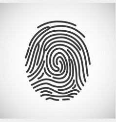 fingerprint icon fingerprint isolated on white vector image