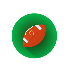 flat american football ball vector image