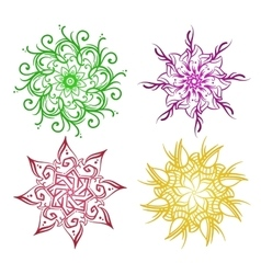 Flowers ornaments set vector