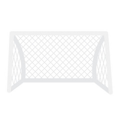 Football gate with net cartoon vector