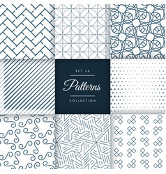 geometric pattern collection in vector image