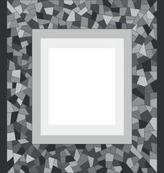 Gray dark mosaic triangles abstract border vector