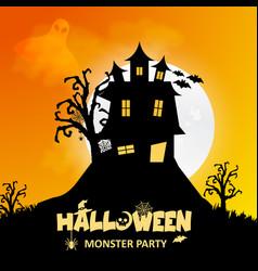 halloween design with typography and dark vector image