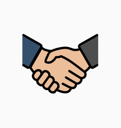Handshake icon simple deal or partner agree vector
