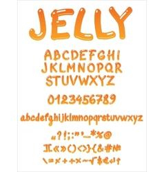 Handwritten jelly font vector image