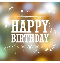 Happy Birthday Typography Background vector image