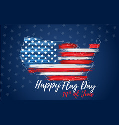 happy flag day 14th june vector image