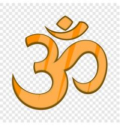 hindu om symbol icon in cartoon style vector image