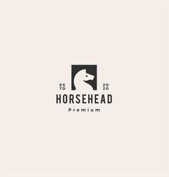 horse head logo icon hipster retro vintage vector image