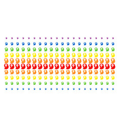 Intellect bulb shape halftone spectrum grid vector
