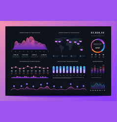 Interface dashboard ux ui analytics information vector