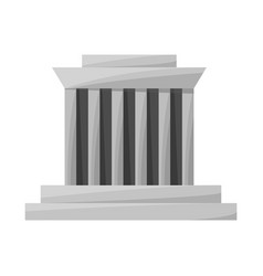 Isolated object building and mausoleum icon vector
