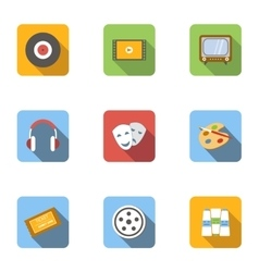 Kind of art icons set flat style vector image vector image