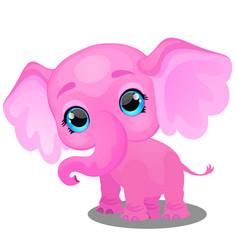 little animated elephant isolated on white vector image