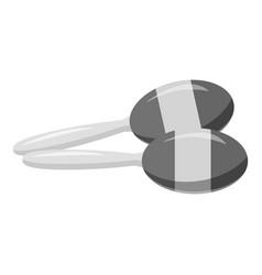 Maracas icon gray monochrome style vector