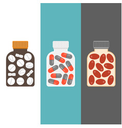medicine bottle with tablets inside vector image