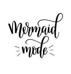 mermaid mode lettering vector image