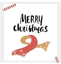 Merry christmas - holiday unique handwritten vector