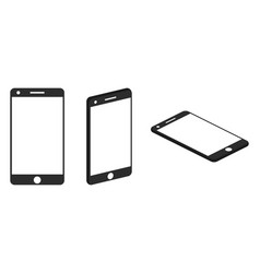 Mobile phone isometric icons vector