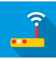 Modem icon flat style vector