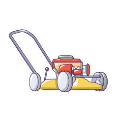 motor grass cutter icon cartoon style vector image