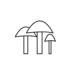 Mushrooms icon vector