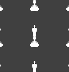 Oscar statuette icon sign Seamless pattern on a vector
