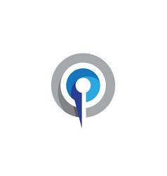 P letter business professional logo vector
