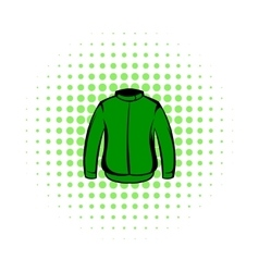 Paintball protective jacket comics icon vector