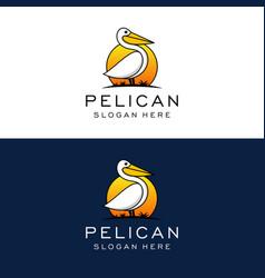 pelican logo design template vector image